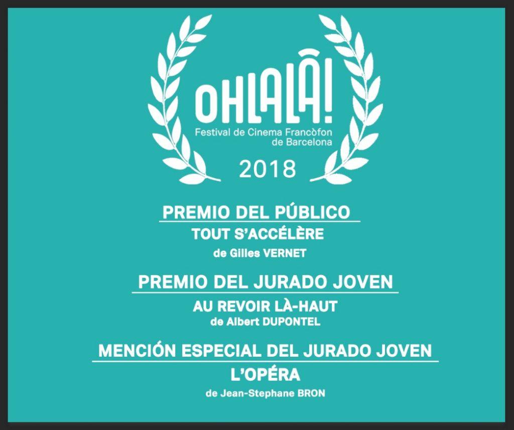 Galardones 2018 del Festival Ohlalà!